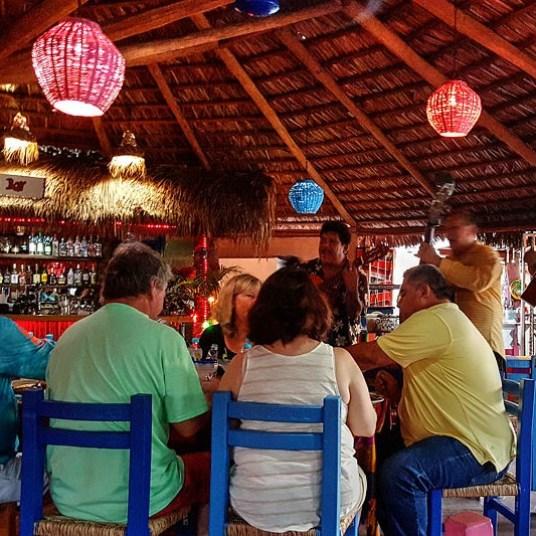 Mariachis entertain diners at La Palapa.