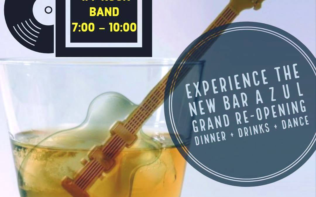 Bar AZUL Grand Re-opening with 477 Rock Band