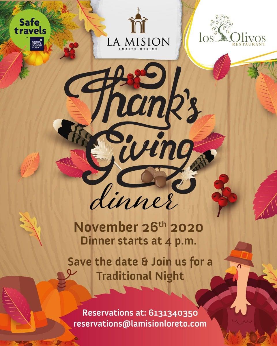 Thanksgiving Dinner La Mision Los Olivos