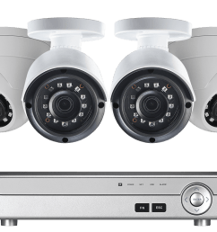 4 channel 2k hd security camera system with 4 2k outdoor cameras 150ft color night [ 1200 x 800 Pixel ]