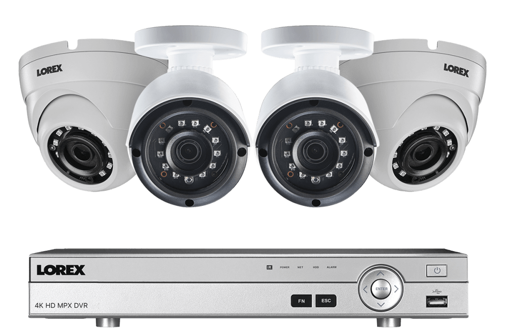 medium resolution of 4 channel 2k hd security camera system with 4 2k outdoor cameras 150ft color night