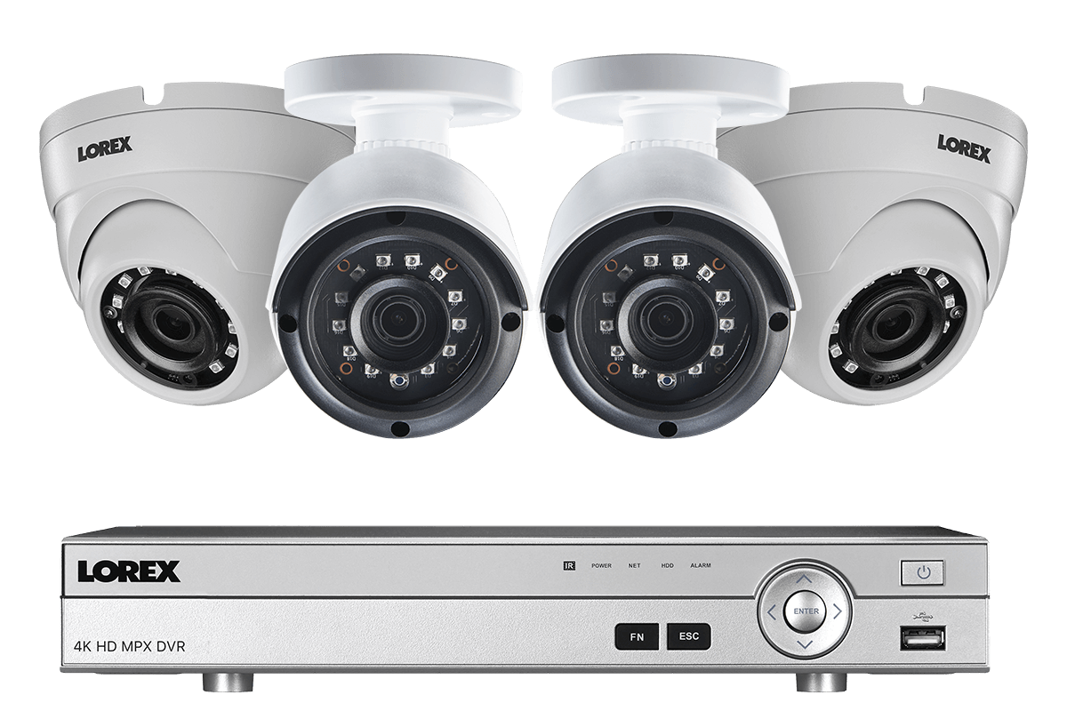 hight resolution of 4 channel 2k hd security camera system with 4 2k outdoor cameras 150ft color night