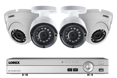 small resolution of 4 channel 2k hd security camera system with 4 2k outdoor cameras 150ft color night