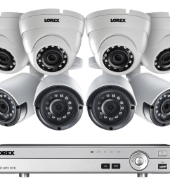 2k super hd security camera system with 8 metal outdoor cameras 150ft night vision 8 channel 4k dvr lorex [ 1200 x 800 Pixel ]