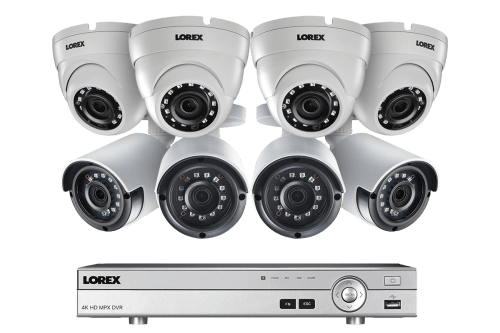 small resolution of 2k super hd security camera system with 8 metal outdoor cameras 150ft night vision 8 channel 4k dvr lorex