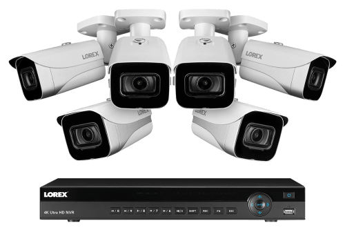 small resolution of 4k ultra hd ip 8 channel nvr system with 6 outdoor 4k 8mp ip cameras 130ft night vision 2tb hard drive lorex