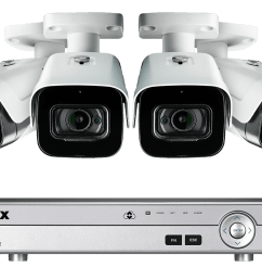 4k ultra hd 4 channel security system with 4 ultra hd 4k 8mp outdoor metal audio cameras 150ft color night vision lorex [ 1200 x 800 Pixel ]