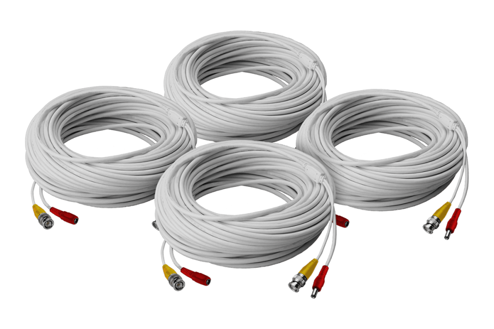 medium resolution of high performance security camera cables 4 60ft bnc video power in