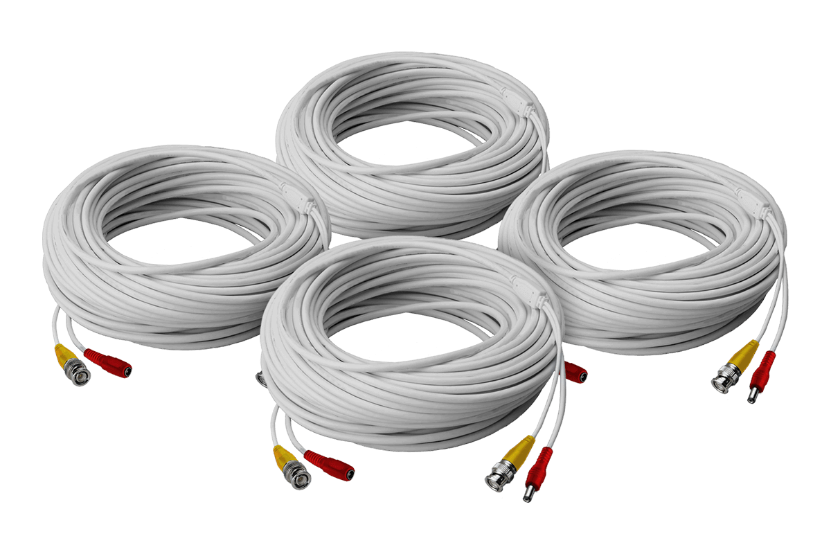 hight resolution of high performance security camera cables 4 60ft bnc video power in