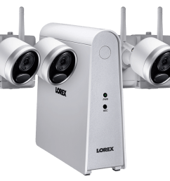 1080p wireless camera system with 4 battery operated wire free cameras 65ft night vision [ 1200 x 800 Pixel ]