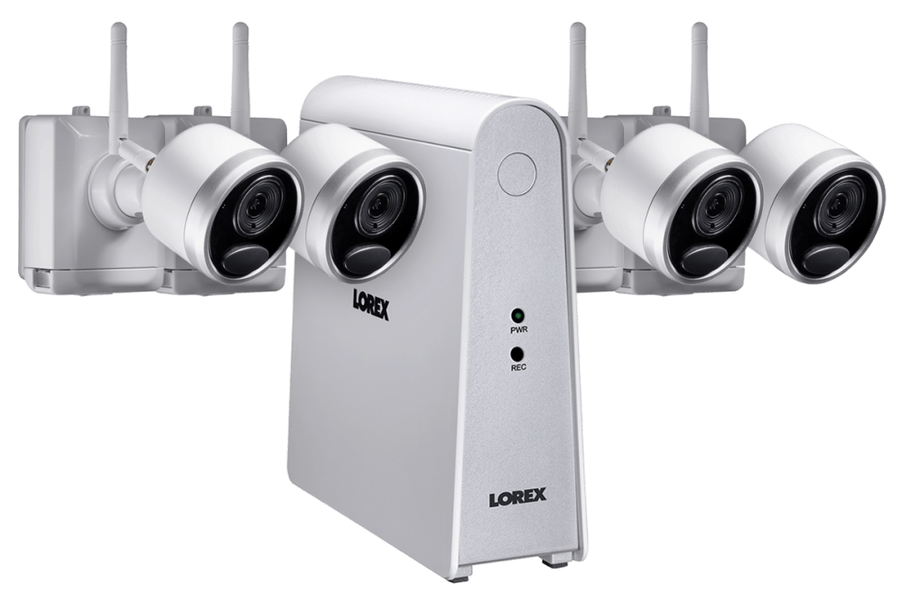 medium resolution of 1080p wireless camera system with 4 battery operated wire free cameras 65ft night vision