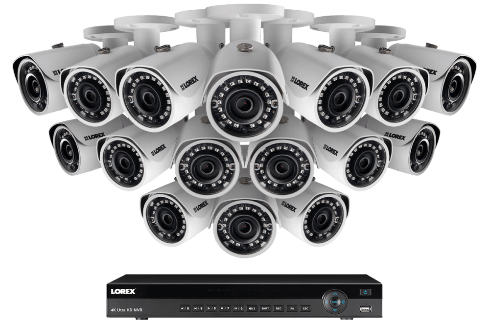 medium resolution of 2k ip security camera system with 16 channel nvr and 16 outdoor 2k 4mp ip cameras