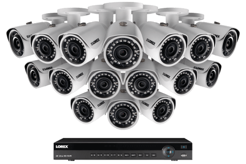 small resolution of 2k ip security camera system with 16 channel nvr and 16 outdoor 2k 4mp ip cameras