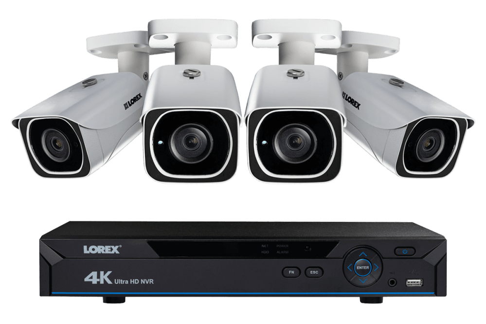medium resolution of ip camera system with 4 ultra hd 4k security cameras lorex secure connectivity