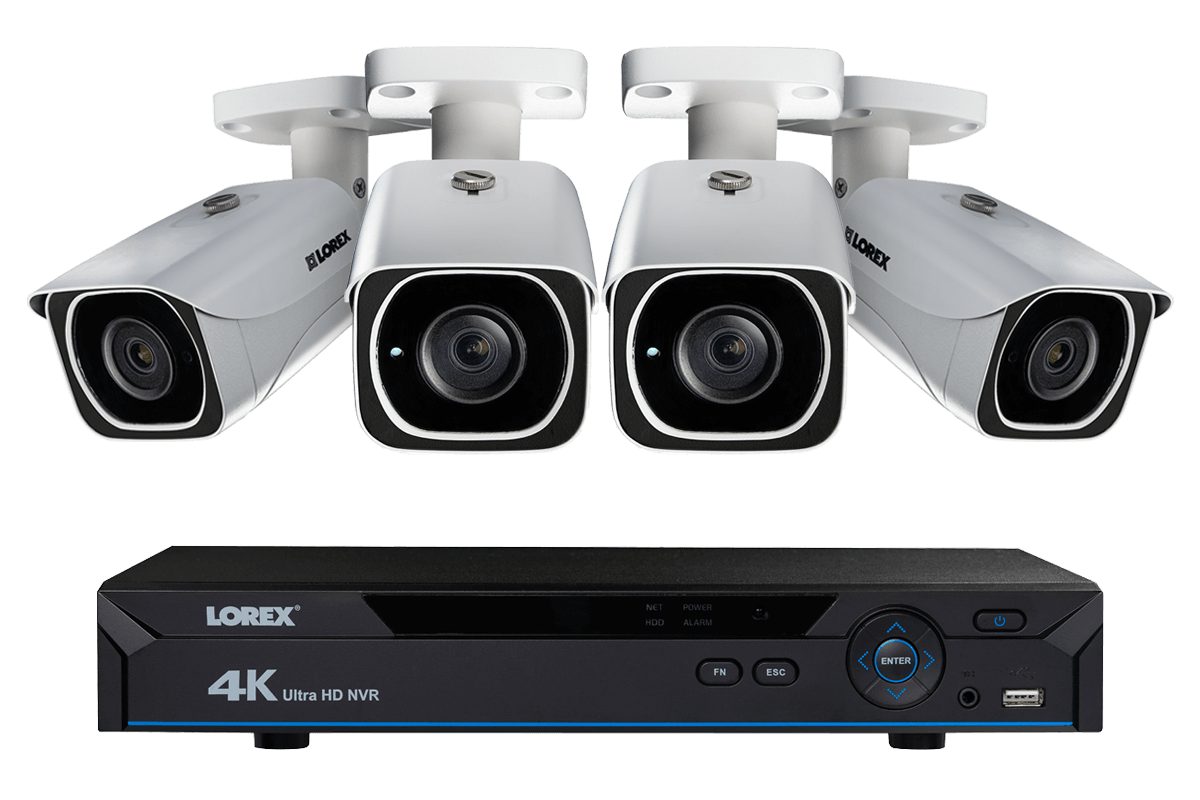hight resolution of ip camera system with 4 ultra hd 4k security cameras lorex secure connectivity