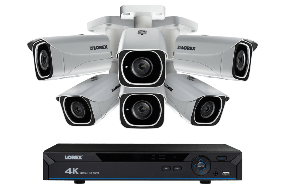 medium resolution of 4k ip camera system with 6 ultra hd 4k metal cameras 130ft color night vision