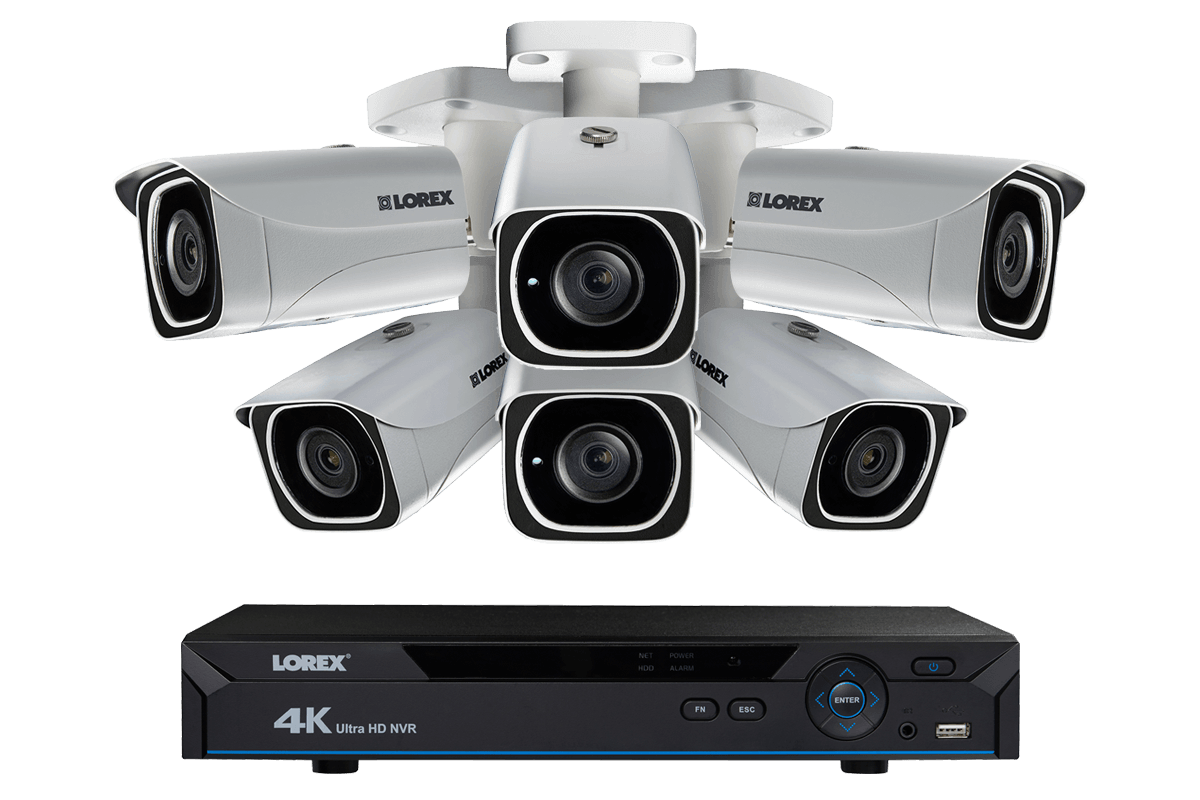 hight resolution of 4k ip camera system with 6 ultra hd 4k metal cameras 130ft color night vision