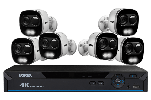 small resolution of 4k ultra hd ip nvr system with 6 active deterrence security cameras 130ft night vision lorex