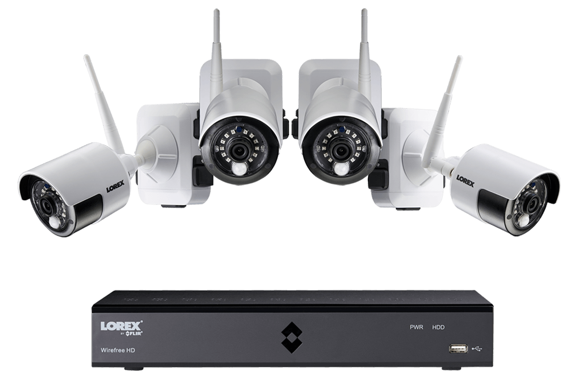 hight resolution of wire free security system from lorex