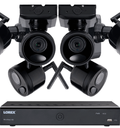 1080p outdoor wireless camera system 6 rechargeable wire free battery powered black cameras 95ft [ 1200 x 800 Pixel ]