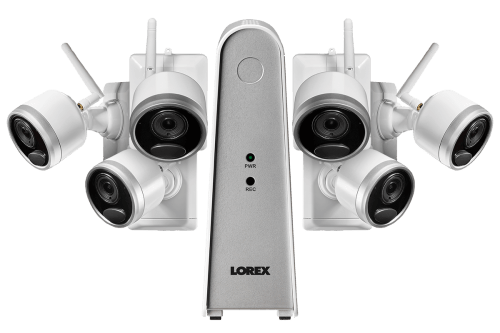 small resolution of 1080p wire free camera system with 6 battery operated cameras 65ft night vision mic and speaker for two way audio no monthly fees lorex