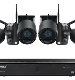 1080p wire free camera system 4 battery powered black outdoor metal cameras ultra  [ 1200 x 800 Pixel ]