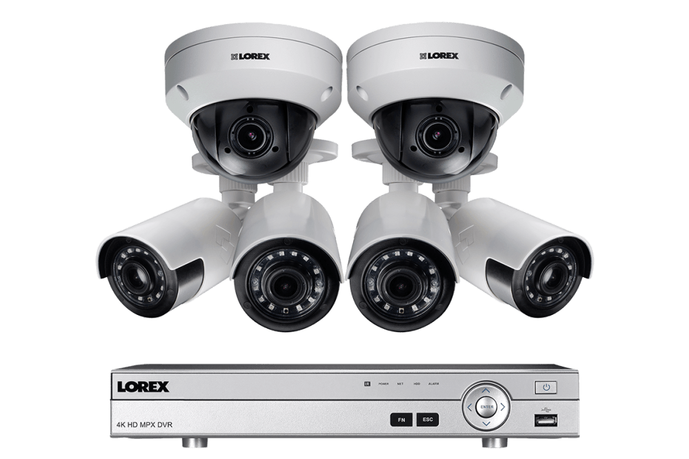 medium resolution of hd home security system featuring 4 ultra wide angle cameras and 2 ptz outdoor 4x zoom