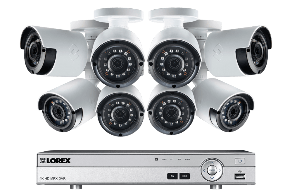 medium resolution of 1080p camera system with 8 channel dvr and 8 1080p outdoor security cameras 130ft night