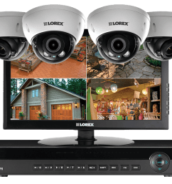 2k ip camera home security system with monitor 140ft night vision with 3x zoom lens lorex [ 1200 x 800 Pixel ]