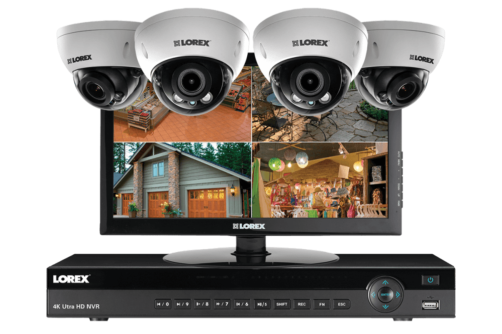 medium resolution of 2k ip camera home security system with monitor 140ft night vision with 3x zoom lens