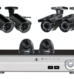 flexible security system with hd 1080p cameras 2 with zoom lenses and 2 wireless hd 720p cameras lorex [ 1200 x 800 Pixel ]