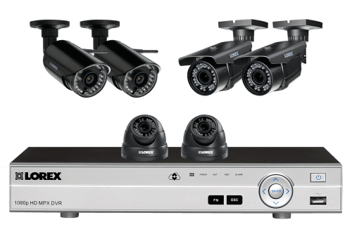 small resolution of flexible security system with hd 1080p cameras 2 with zoom lenses and 2 wireless hd 720p cameras lorex