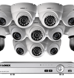 powerful 1080p hd home security system with 2 25 optical zoom 1080p metal ptz cameras [ 1200 x 800 Pixel ]