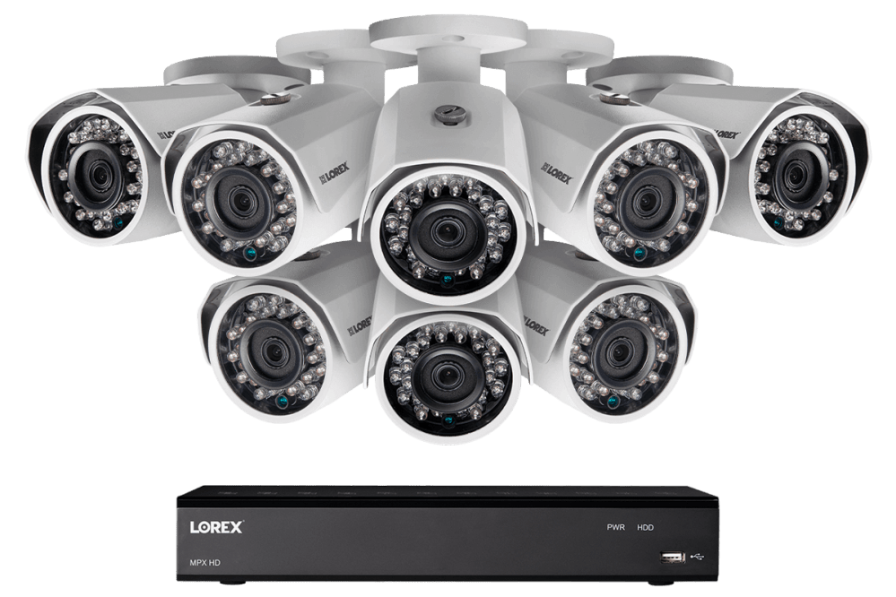 medium resolution of 1080p hd home security system with 8 outdoor cameras 150ft night vision 16 channel dvr with 3tb hard drive lorex