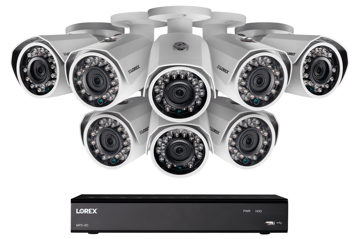 hight resolution of 1080p hd home security system with 8 outdoor cameras 150ft night vision 16 channel dvr with 3tb hard drive lorex