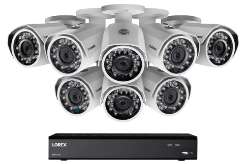 small resolution of 1080p hd home security system with 8 outdoor cameras 150ft night vision 16 channel dvr with 3tb hard drive lorex