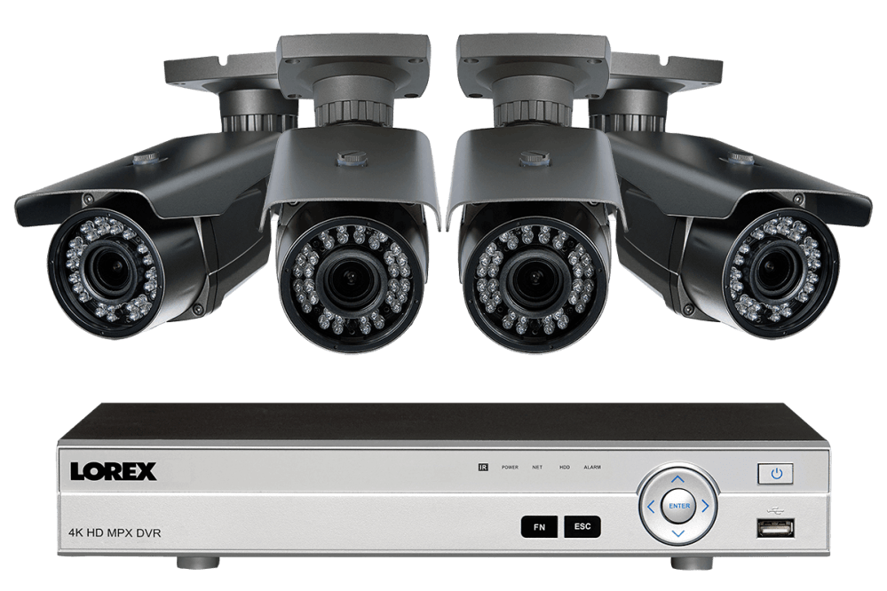 medium resolution of 1080p hd home surveillance system with 4 zoom lens security cameras