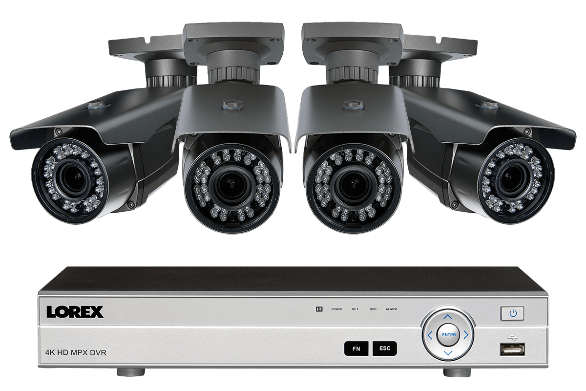 hight resolution of 1080p hd home surveillance system with 4 zoom lens security cameras