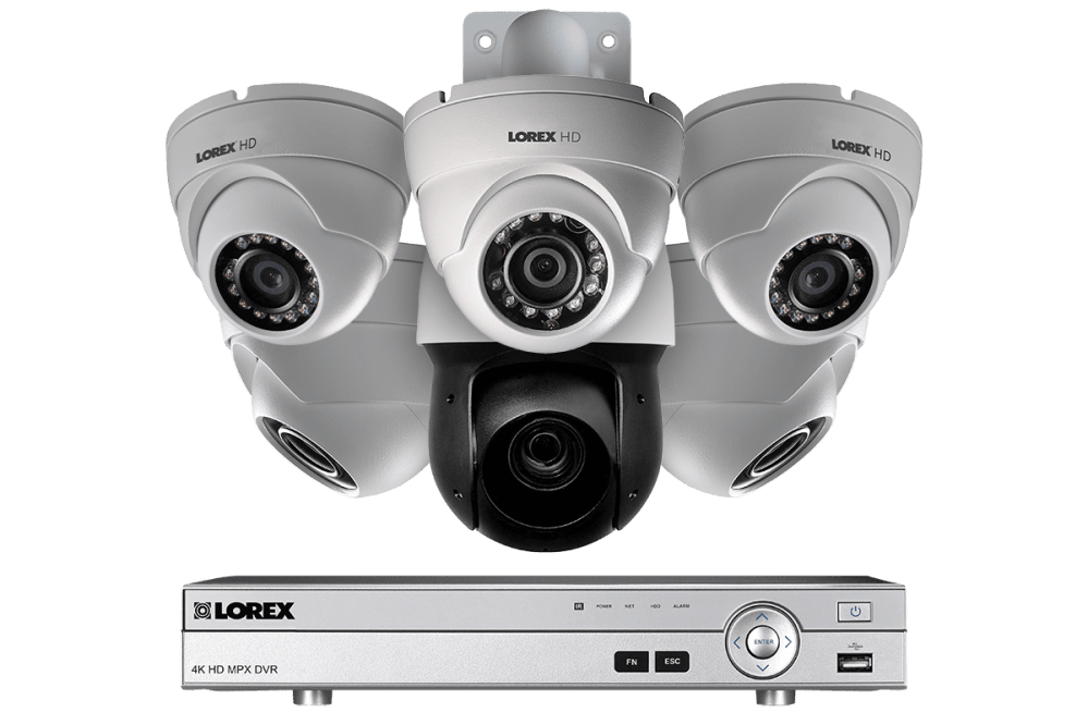medium resolution of hd security system with 1080p dome cameras and optical zoom metal ptz camera color night