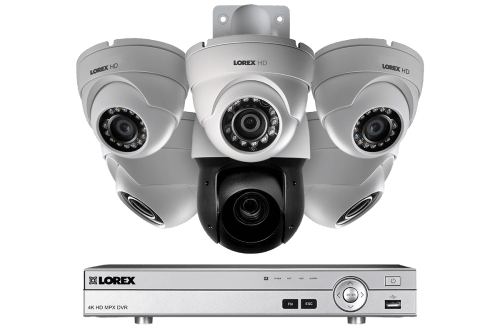 small resolution of hd security system with 1080p dome cameras and optical zoom metal ptz camera color night
