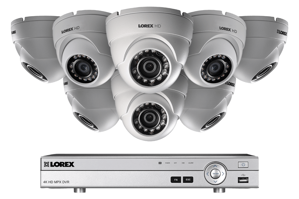 medium resolution of hd 1080p home security system and 8 dome metal outdoor cameras with 130ft night vision