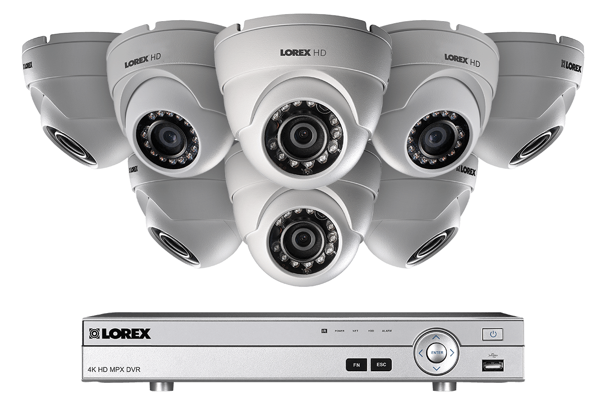 hight resolution of hd 1080p home security system and 8 dome metal outdoor cameras with 130ft night vision