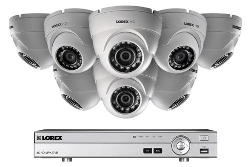 small resolution of hd 1080p home security system and 8 dome metal outdoor cameras with 130ft night vision