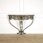 Wrought Iron Console Table With Marble Top Lorfords Antiques
