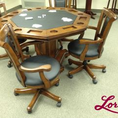 Table With Swivel Chairs Chalk Painted 52 39 Imperial 2 In 1 Gametable Set Incudes 4 Rocker