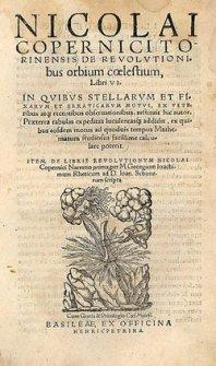 Publication of De Revolutionibus
