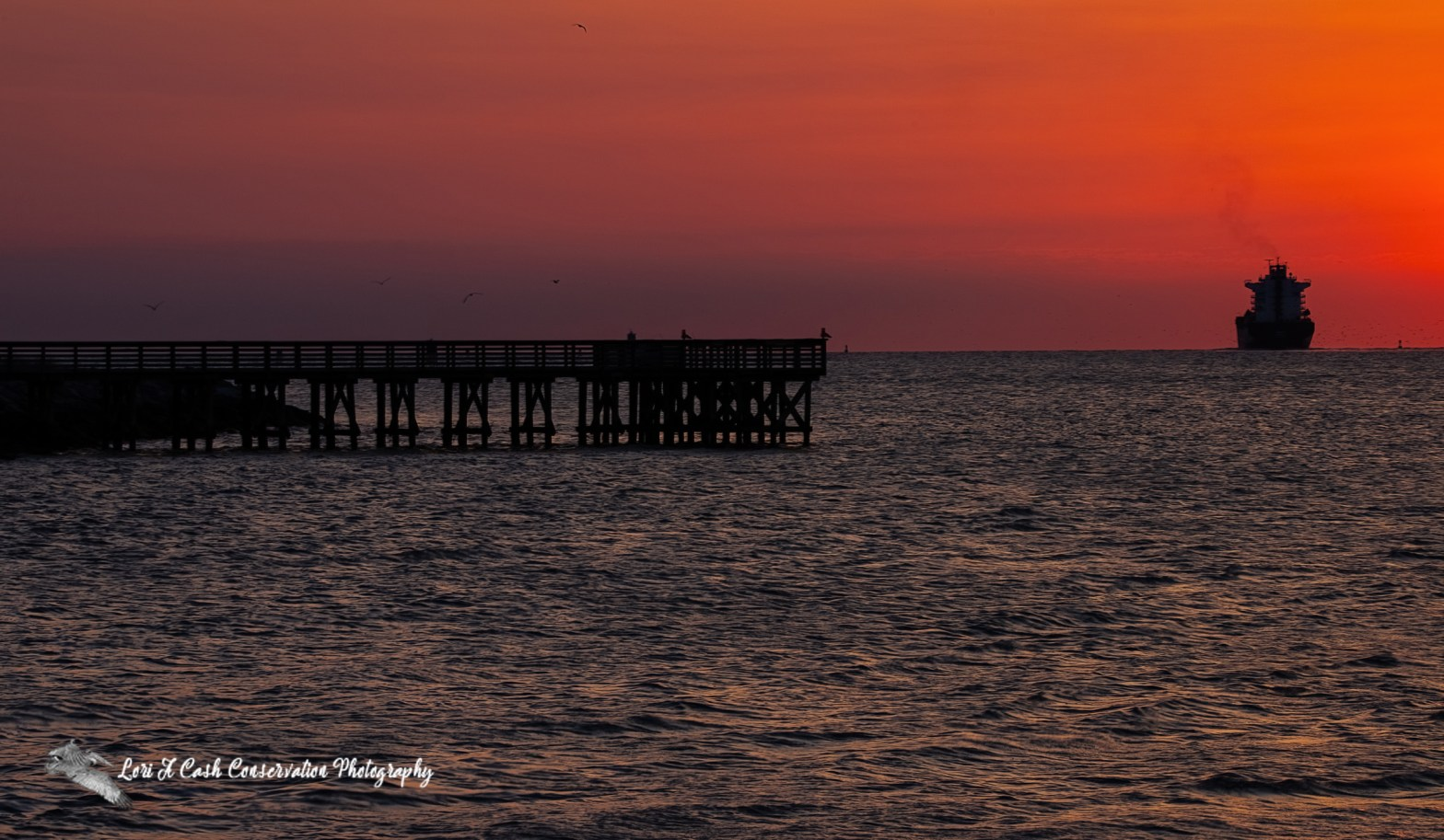 Sunrise along the Chesapeake Bay from the view of Fort Monroe in Hampton, Virginia.