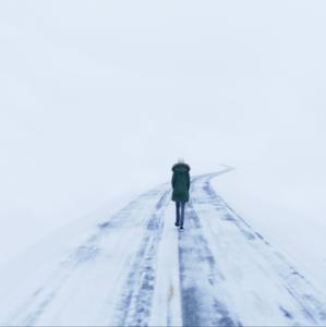 Lorianne-Thompson-Female-Walking-Alone-on-Snow-image