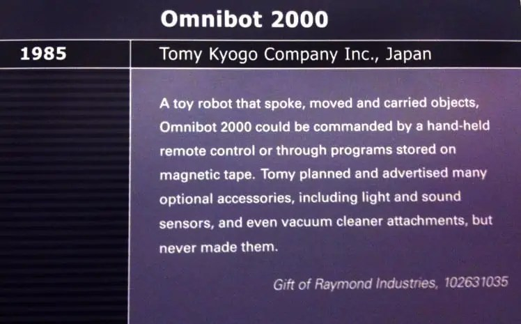 Omnibot 2000 Description