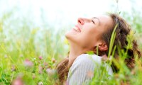 Woman relishes a spring day after IV ketamine + neuroplasticity = relief, relaxation, and relishing life for her.